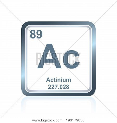 Chemical Element Actinium From The Periodic Table