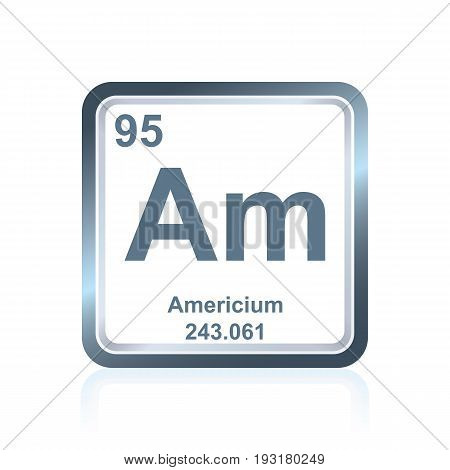 Chemical Element Americium From The Periodic Table