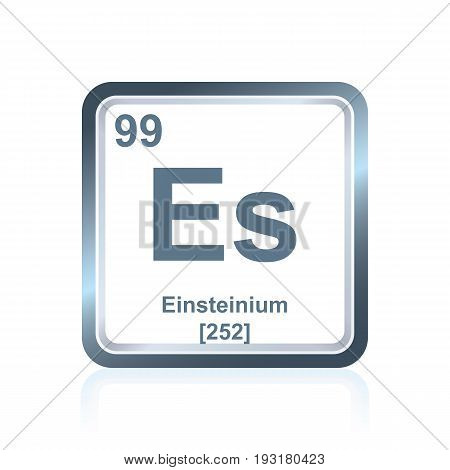Chemical Element Einsteinium From The Periodic Table