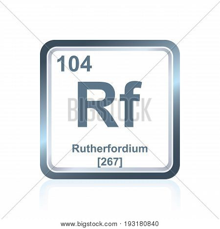 Chemical Element Rutherfordium From The Periodic Table