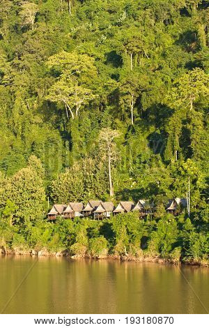 Landscape of Nong Khiaw and Ou river, Laos southeast asia poster