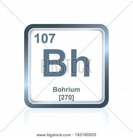 Chemical Element Bohrium From The Periodic Table