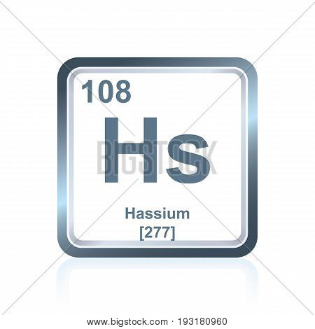 Chemical Element Hassium From The Periodic Table