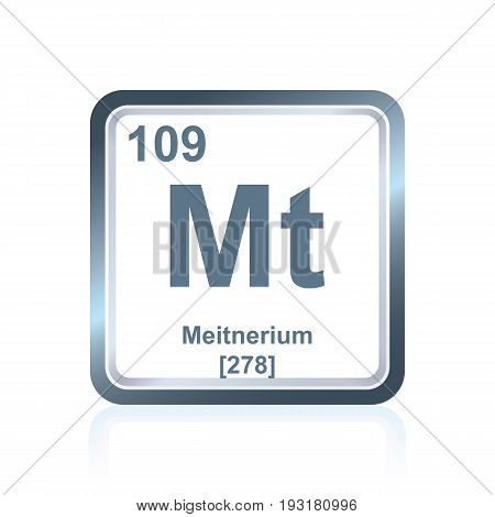 Chemical Element Meitnerium From The Periodic Table
