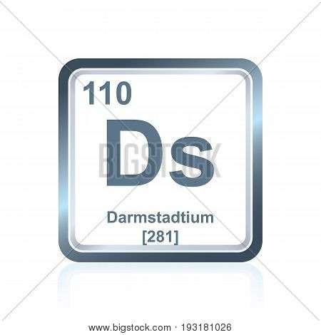 Chemical Element Darmstadtium From The Periodic Table