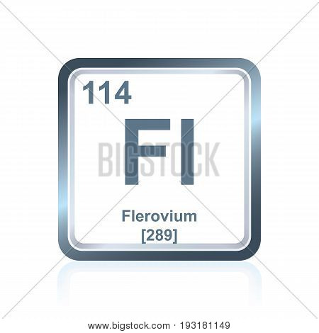 Chemical Element Flerovium From The Periodic Table
