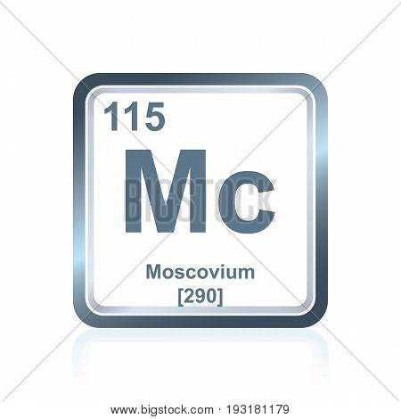 Chemical Element Moscovium From The Periodic Table
