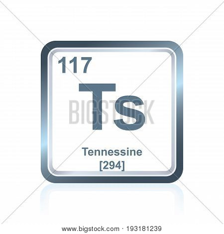 Chemical Element Tennessine From The Periodic Table