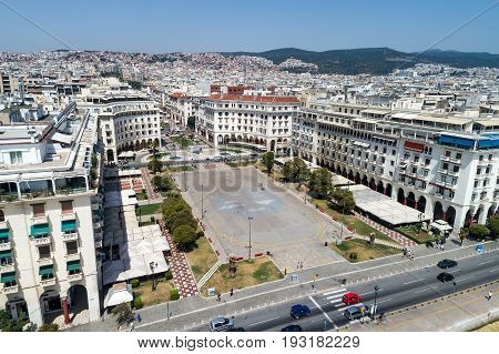 Aristotelous Square In The City Of Thessaloniki In Northern Greece
