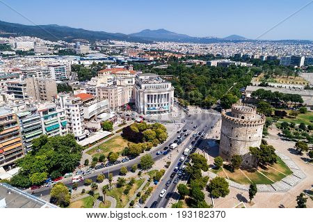White Tower In The City Of Thessaloniki In Northern Greece
