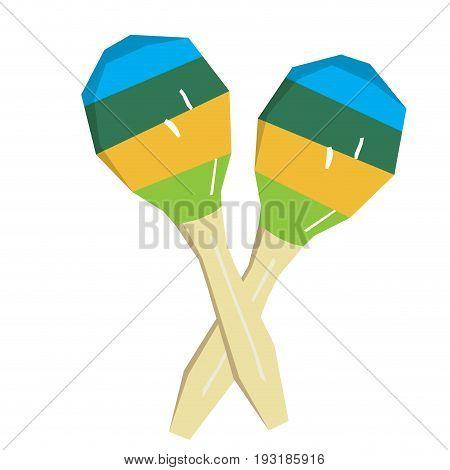 Isolated pair of geometric maracas, Vector illustration