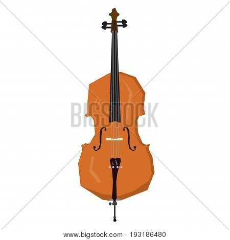 Isolated geometric cello on a white background, Vector illustration