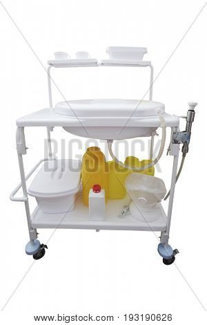 Medical trolley isolated