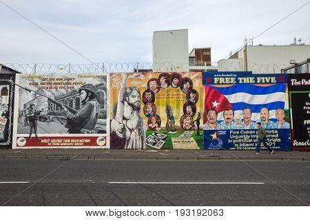 Belfast Mural Northern Ireland