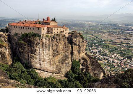 Monastery Landscape Meteora Greece