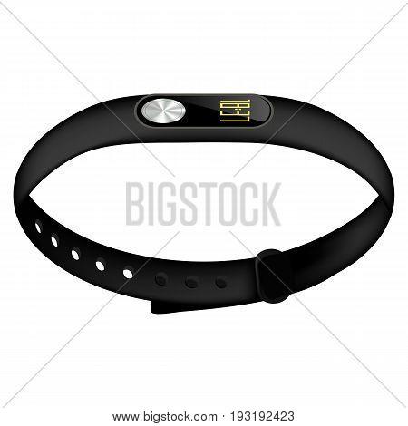 Modern Sport Fitness Tracker Isolated on White Background