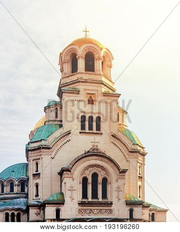 Beautiful view of Alexander Nevsky Cathedral in Sofia the capital of Bulgaria