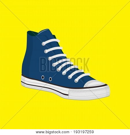 Old style sport sneakers shoe. Shoe vector stock.