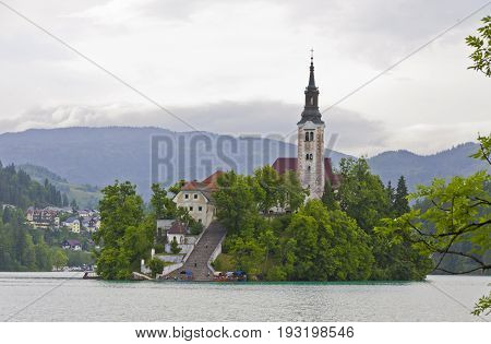 Landscape With Island On Bled Lake, Bled, Slovenia