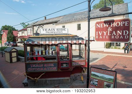 NEW HOPE, PA - AUGUST 11: Views of The New Hope and Ivyland rail road is a heritage train line for visitors going on touristic excursions in Bucks County, Pennsylvania on August 11, 2013