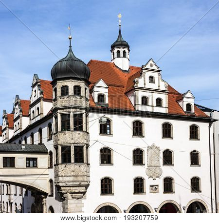 Building of New city hall in Munich, Germany
