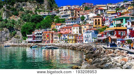 Beautiful colorful coastal town Parga in Greece ,Epirus