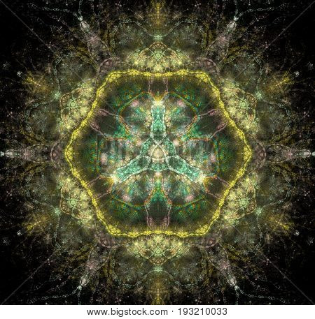 A kaleidoscopic mandala representing the truth and impermanence of existence.