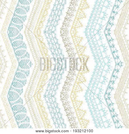 Vector Zigzag Croched Seamless Pattern.