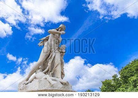 Sculpture Medee At Tuileries Garden In Paris