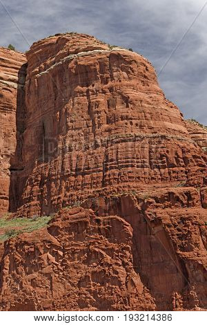 Red Sandstone Bluff in the Desert near Sedona Arizona