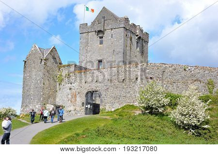Dungory East, Kinvarra, Co. Galway, Ireland June 2017,dunguaire Castle Entrance.