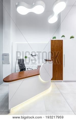Reception Room In Clinic