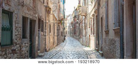 Coastal Old Town Small Narrow Street