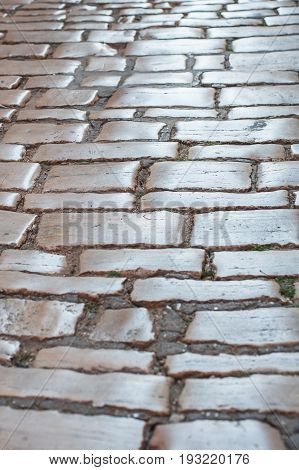 Old Town Stone Paving Pattern Pavement