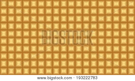 gold chocolate vector seamless pattern for surface design. geometric yellow square shape repeatable motif for background