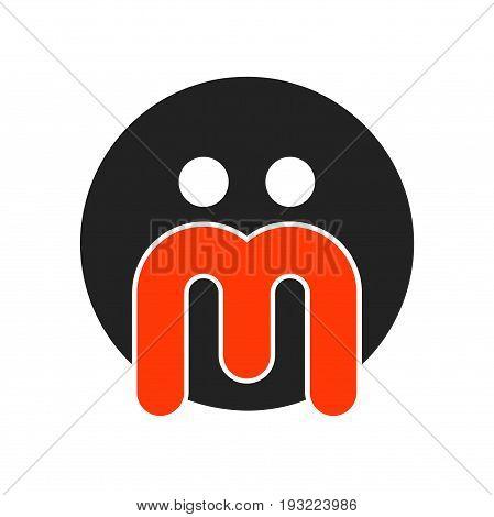 abstract m letter logo design, abstract logo design