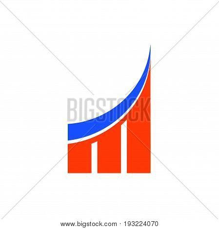 m letter marketing logo design, abstract logo design