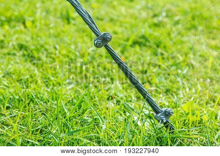 Steel Wire Rope Sling Clip on grass