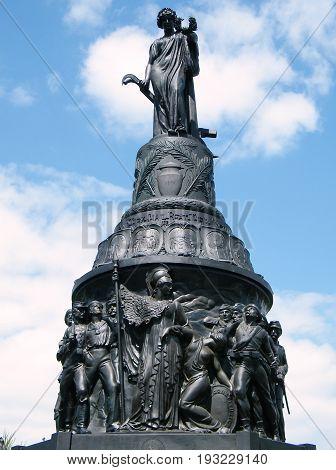 Sculptures of Confederate Memorial in Arlington National Cemetery Arlington Virginia USA