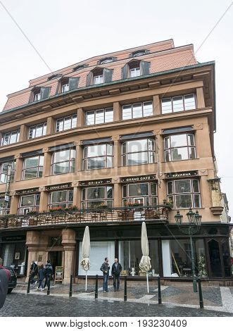 PRAGUE CZECH REPUBLIC 7 OCTOBER 2015 - House of the Black Madonna Art-deco building in Prague Czech Republic