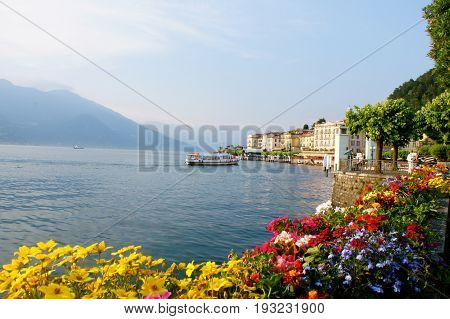 Bellagio town on Lake Como in Italy
