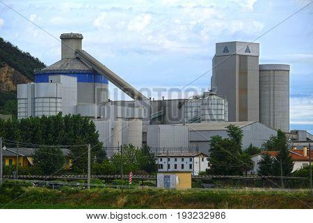 Monselice, Italia - June, 27, 2017: factory in Monselice, North Italia