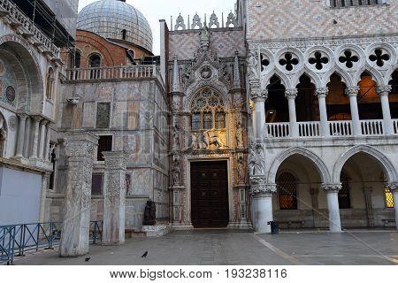 Carta Gate,Porta della Carta, San Marco square,