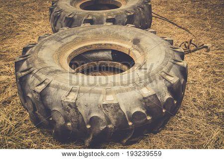 Big Tires On Sand Vintage