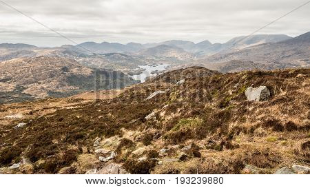 View of Upper Lake from Torc Mountain in Killarney National Park