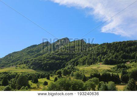 High Mountain Called Spitz Mount Near Small Village Of Tonezza I