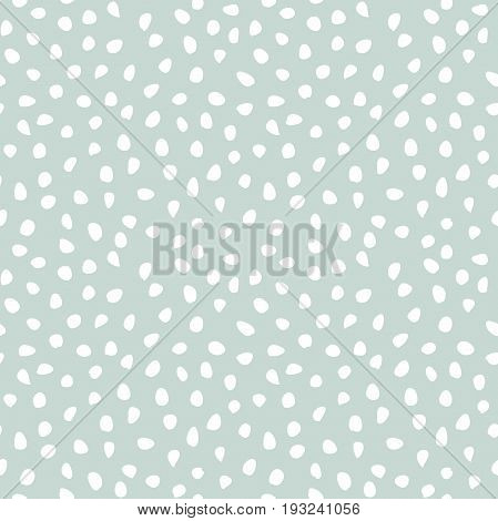 Seamless light blue and white background with random elements. Tileable ornament. Dotted abstract pattern