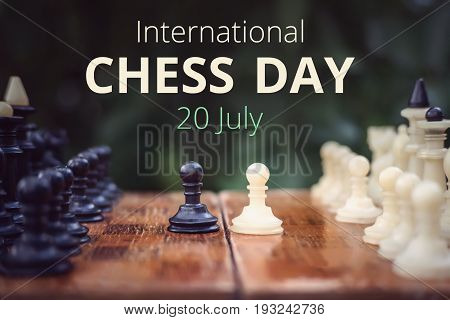 20Th Of July - International Day Of Chess Concept