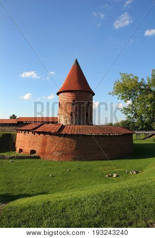 Old Gothic castle in Kaunas, Lithuania.