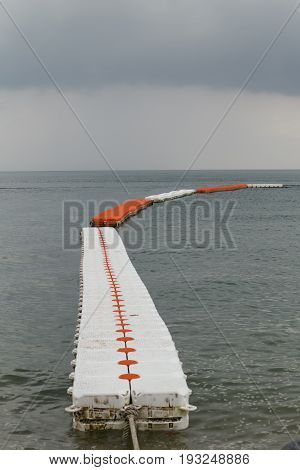 Sea buoys Safe Swimming zone separator safety in strom weather.